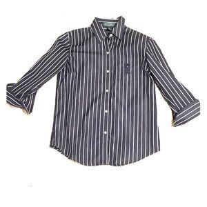 Ralph Lauren pinstriped blouse